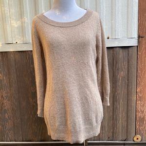 Tesori 100% cashmere sweater camel size L